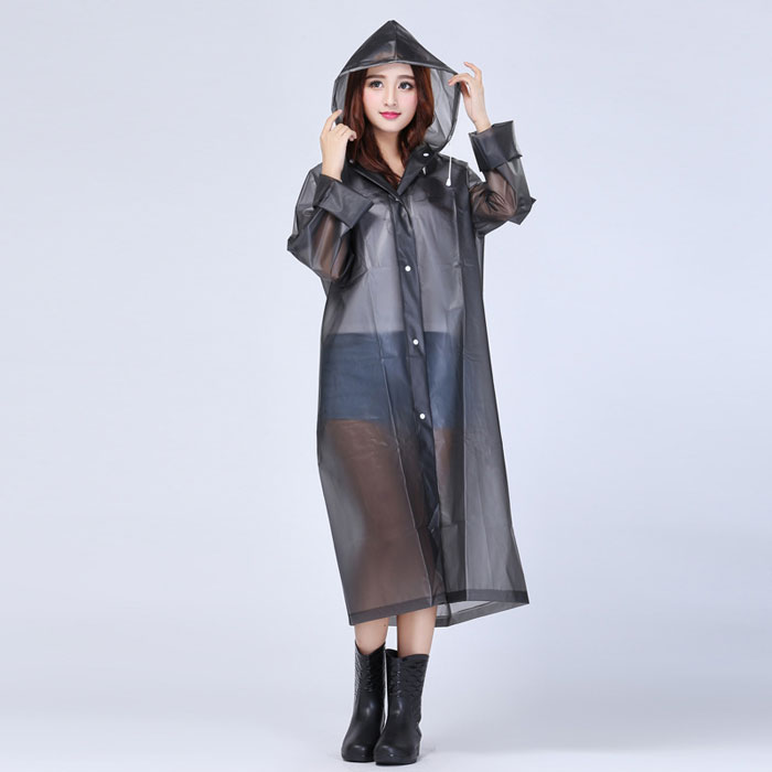 Fashion EVA Transparent Raincoat for Women and Girls Outdoor Waterproof Long Rain coat