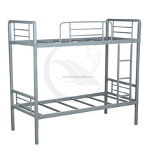 Commercial grade adult bunk bed steel double bed for hotsale