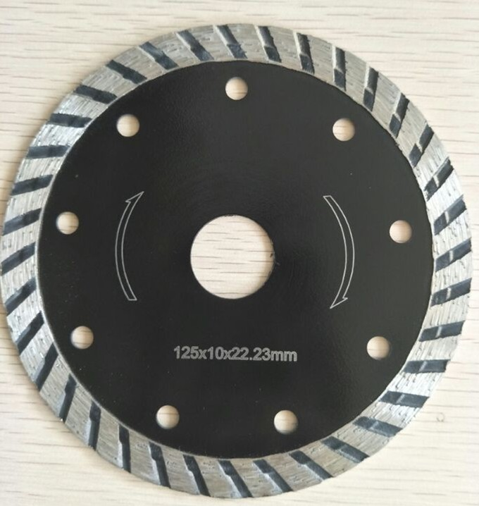 Turbo flat dry cutting concrete cutting diamond saw blade