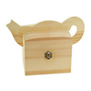 Lovely wine pot shaped small wood box with hinged lid