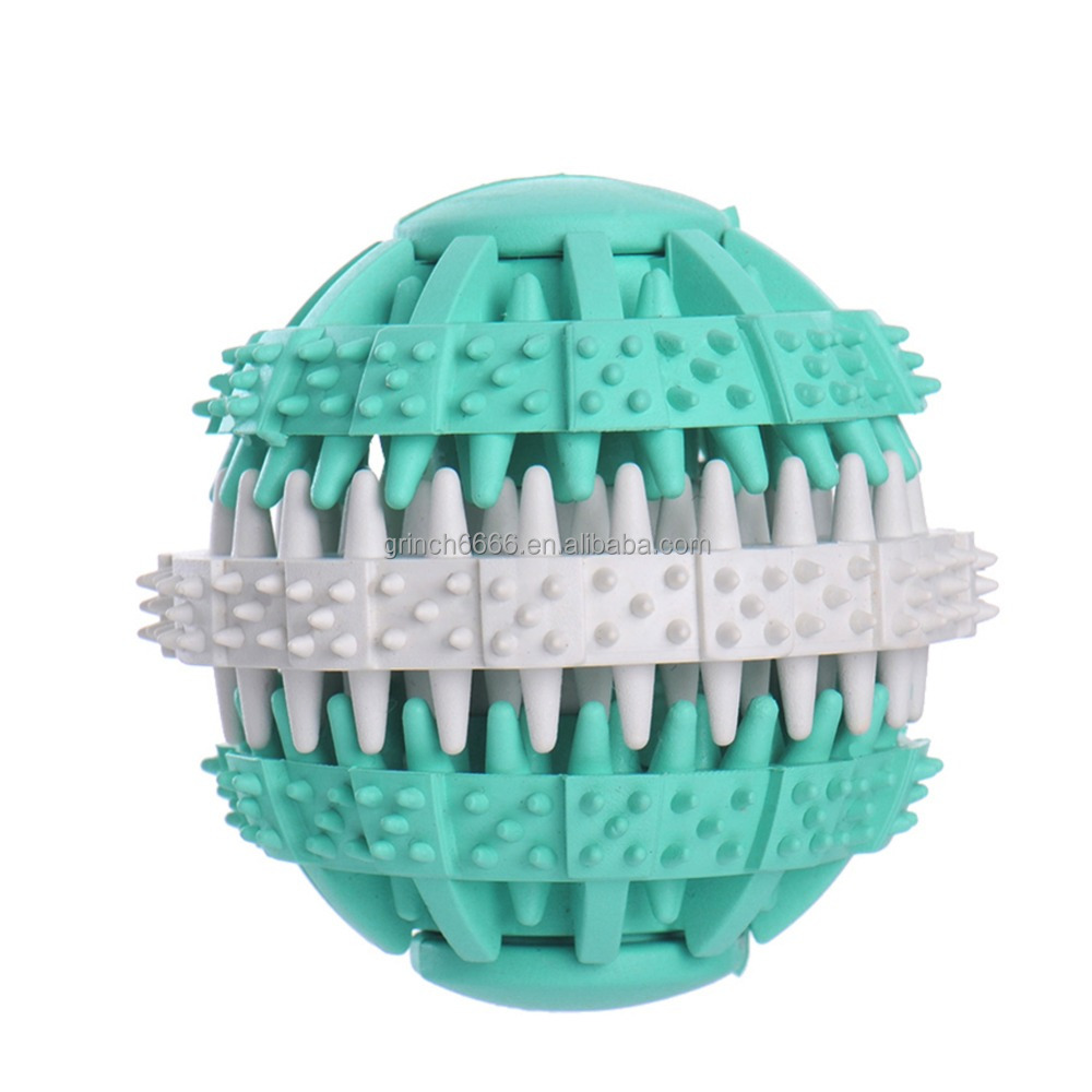 Rubber Ball Chew Treat Non-toxic Pet Dog Puppy Cat Toy Training pet toy rubber ball