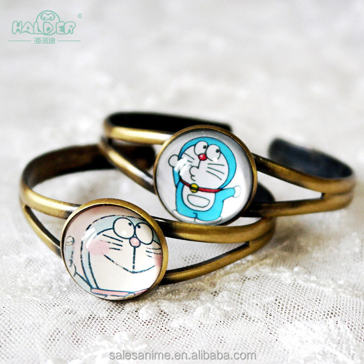 Wholesale Epoxy Doraemon Bangles Alloy Bracelet