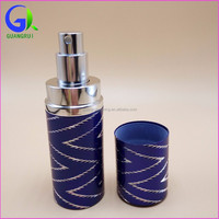 wholesale stock Refill aluminium tube perfume spray bottle with silk screen printing service grx007