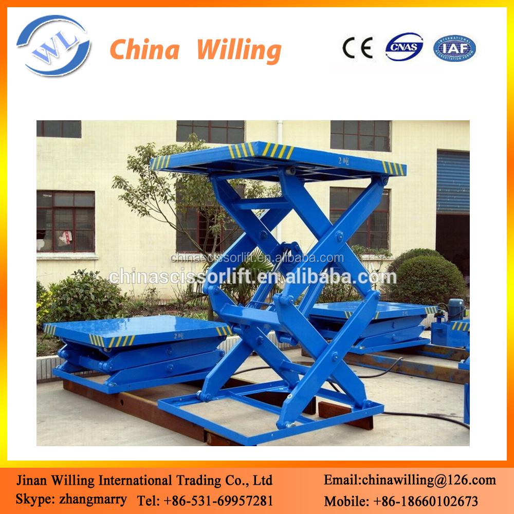 Scissor Lift Mechanism Design : Ton hydraulic platform lift scissor