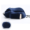 OEM LOGO Transportable Folding New Patent Travel Pillow Chin Support With C Travel Bags For Sleeping Travelling