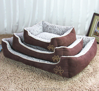 Super Soft Fabric Luxury Pet Beds/Removable Waterproof Pet Dog Bed