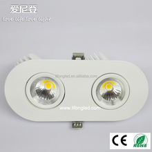 Double head COB LED downlight 18w LED trunk lamp with CE&RoHS