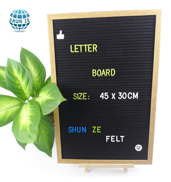 Alibaba supplier wholesale white felt /slotted wooden/sign/letter board with plastic alphabet
