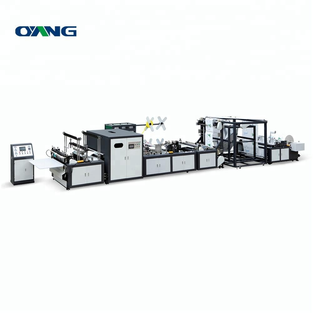 Full-auto pp box bag d-cut gusset bag non woven bag making machine with good price