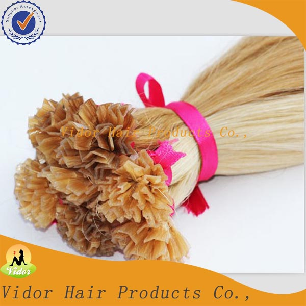 Wholesale Keratin Pre-boned V Tip Hair Extension / Cheap Human Remy V Tip Indian Hair