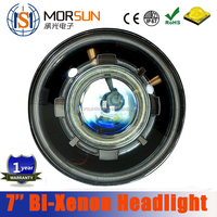Morsun new 7''inch Bi-Xenon headlight, round High/Low beam all-in-one 35w 7inch round HID Demon Angel Eyes headlight for Jeep JK