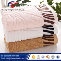 High quality jacquard terry bamboo fiber towel wholesale