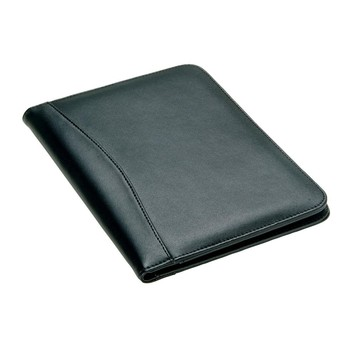 Business a4 leather portfolio clutch file folder with pen holder