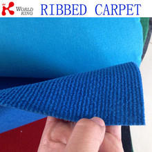 100% polyester needle punched ribbed carpet