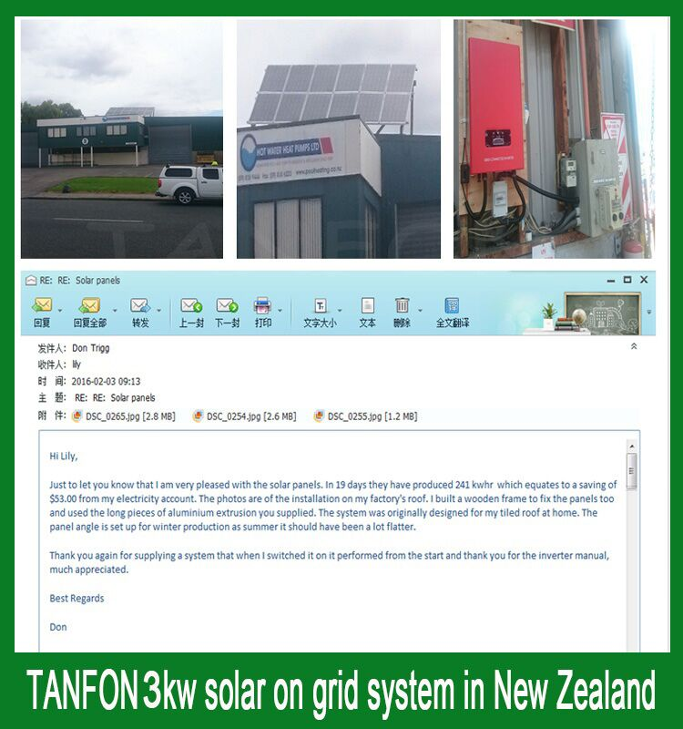 3kw on grid soalr system feedback