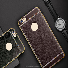Phone Case Taobao Alibaba Express New Coming,100% Fit For iphone 7 Electroplate TPU Litchi Lines Leather Case For iphone 7plus