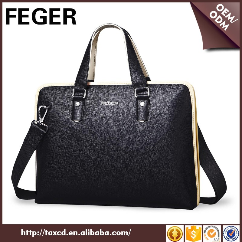 Men genuine leaher bag for business bag for ipad