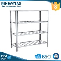 Heavybao Highest Quality Knock-down Structure Mobile Warehouses Quality Metal Kitchen Storage Clothing Rack Store