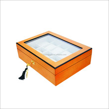 Wooden material hinging open varnishing watch box