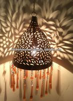 Moroccan Hanging Lamps with Crystal Pendants, Turkish Lamps