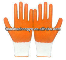 gloves for industrial and work fabric nitrile gloves