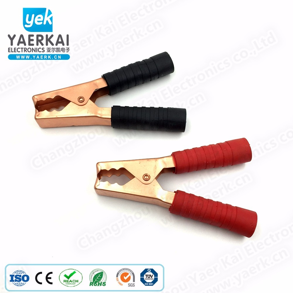 300A large copper plated iron battery booster clip alligator clip