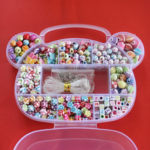 DIY Bracelet Plastic Acrylic Bead Kit Accessories Girl Toys Mixed Kids Beads with Box, Beads for Children