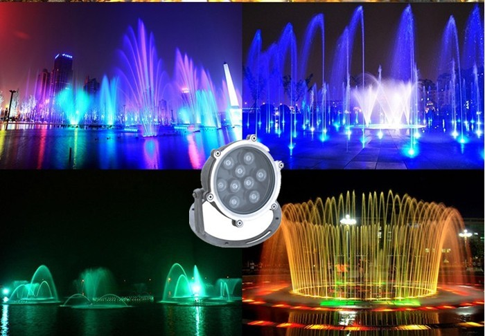 9W led underwater fishing light RGB light LED