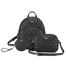 Backpack Purse Quilted Casual Backpacks Handbags for Women Shoulder Bag Coin bag 3 Pieces Set