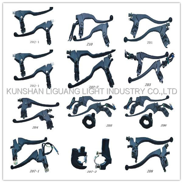 Adjustable aluminum alloy motorcyclebrake lever