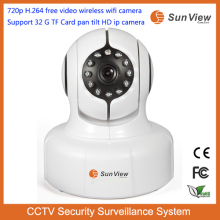SunView 720p H.264 free video camera Support 32G TF Card pan tilt full HD ctv security system long distance wifi camera