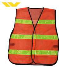 Colorful warning fabric vest reflective safety jackets