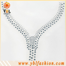 Wholesale Necklace hot fix crystal rhinestone design transfer