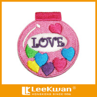 Christmas Xmas Ball Love Heart Applique Embroidered Iron on Patch