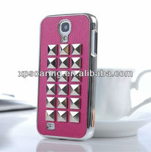 hot selling Studs Punk Spike Rivet Hard Case for Samsung Galaxy S4 i9500