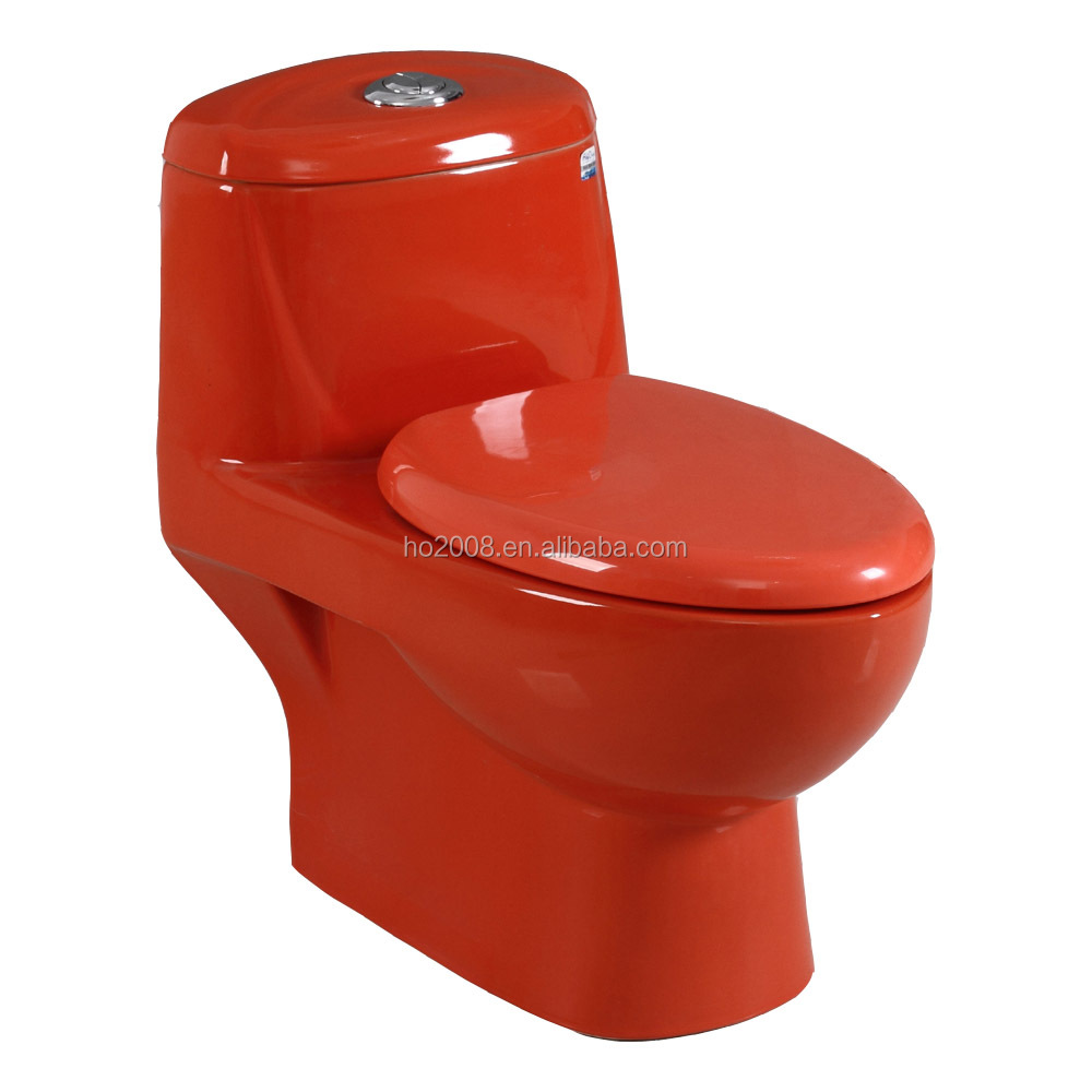 Ceramic Red Color Toilet HO-8041-4