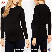 Wholesale maternity clothes nursing top breastfeeding tops for trans-seasonal wear