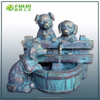 Dog Water Resin Animal Fountain