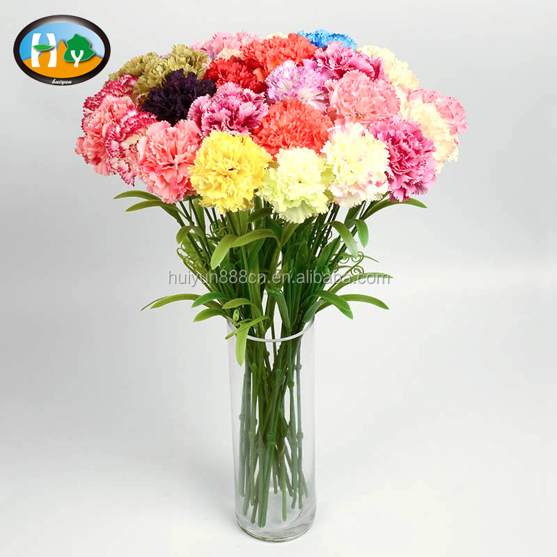 Cheap silk carnation artificial flower for Mother's Day