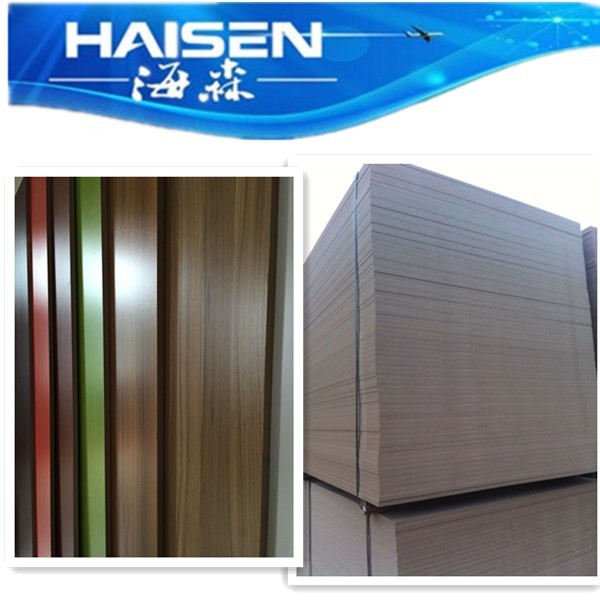 melamine paper laminated MDF sheets in China factory