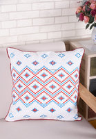handmade embroidery fabric ready made ribbon embroidery cushion covers