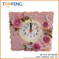 Petite Floral Alarm Clock/antique table clock/rose clock