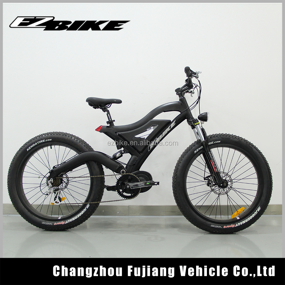 High power electric mountain bike with middle motor