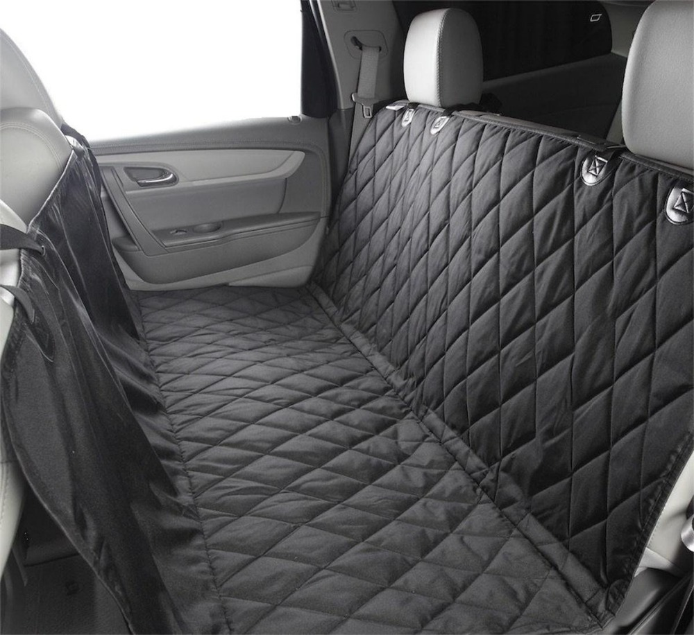 Dog Car Seat Cover - Car Backing Seat Cover for Pet- Quilted Waterproof Non Slip Hammock Convertible