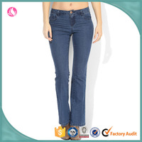 China Wholesale Women Jeans Flared Denim Jeans