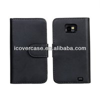 Luxury Wallet with Stand leather case for Samsung Galaxy S2 i9100 SII S II Phone Bag Cover Pouch with Card Holder 5 colors