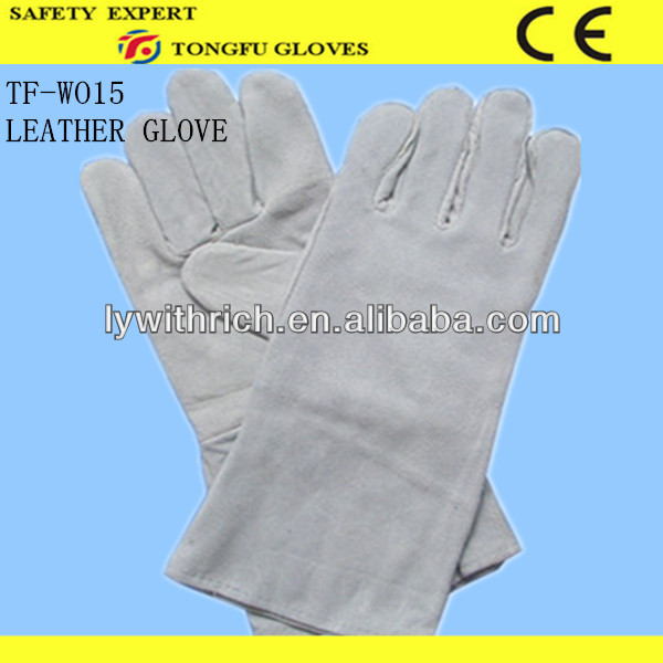 high quality elbow length long sleeve leather protective gloves