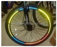 PVC micro prisma reflective type tire reflective stickers for bike