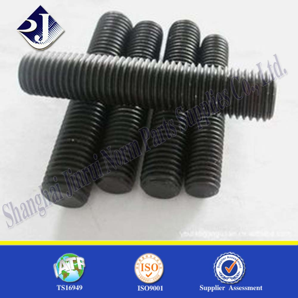 A193B7 Stud bolt and nut ASME 193 B7 stud bolt and nut Black finished B7 bolt and nut