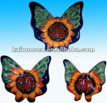 Assorted hand painted ceramic butterfly decoration